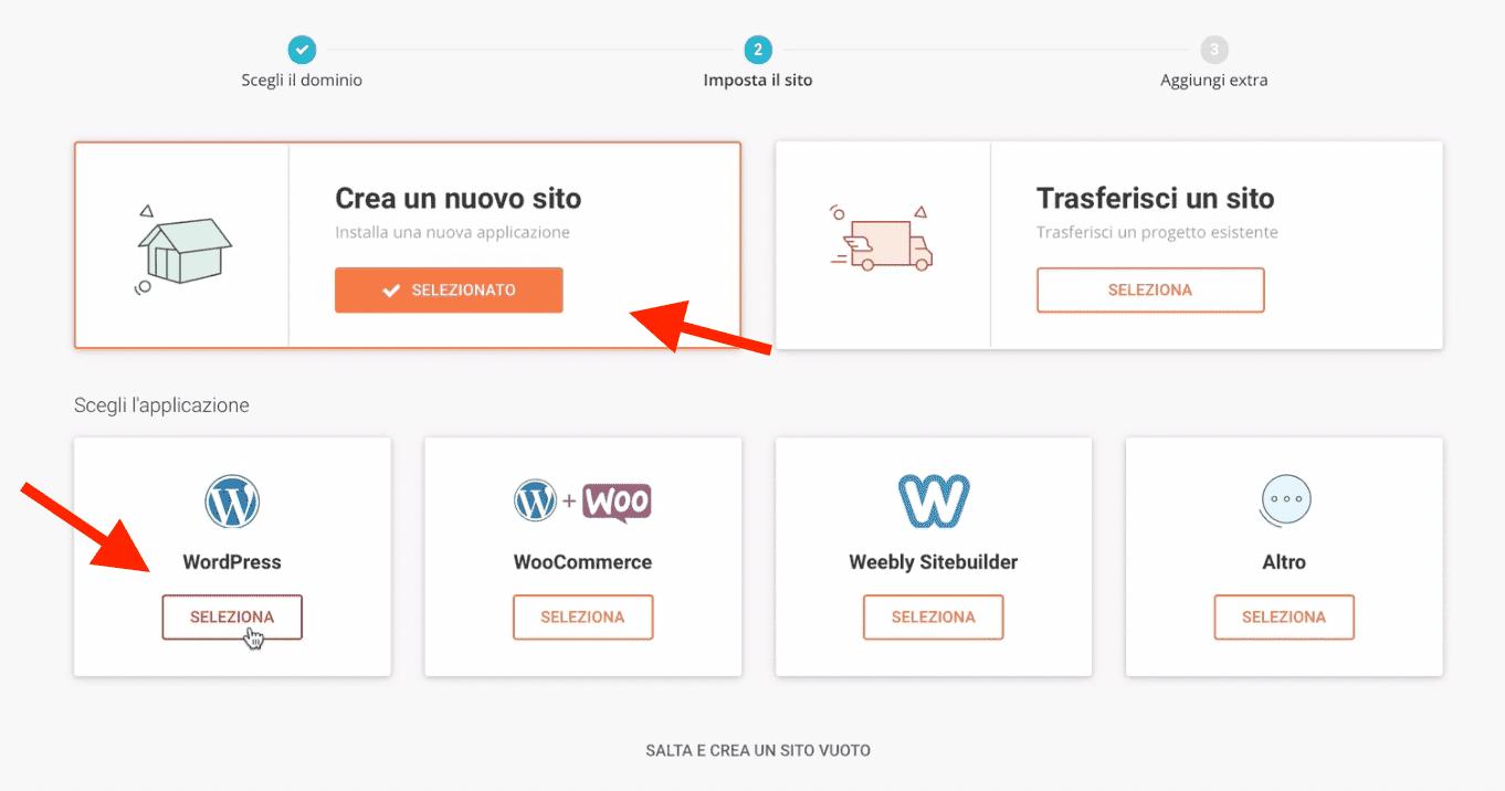installare wordpress con siteground
