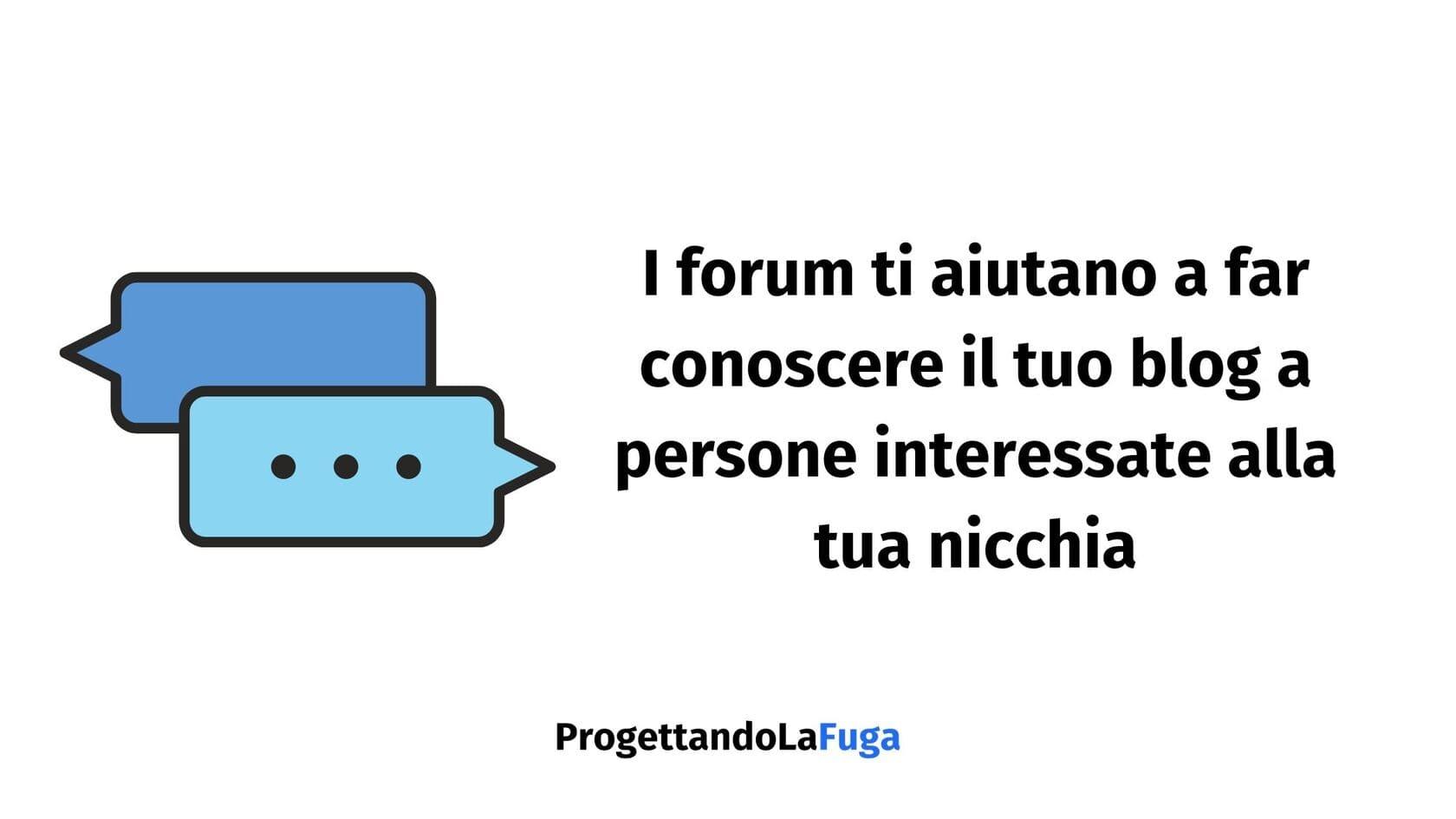 aumentare le visite al blog con i forum