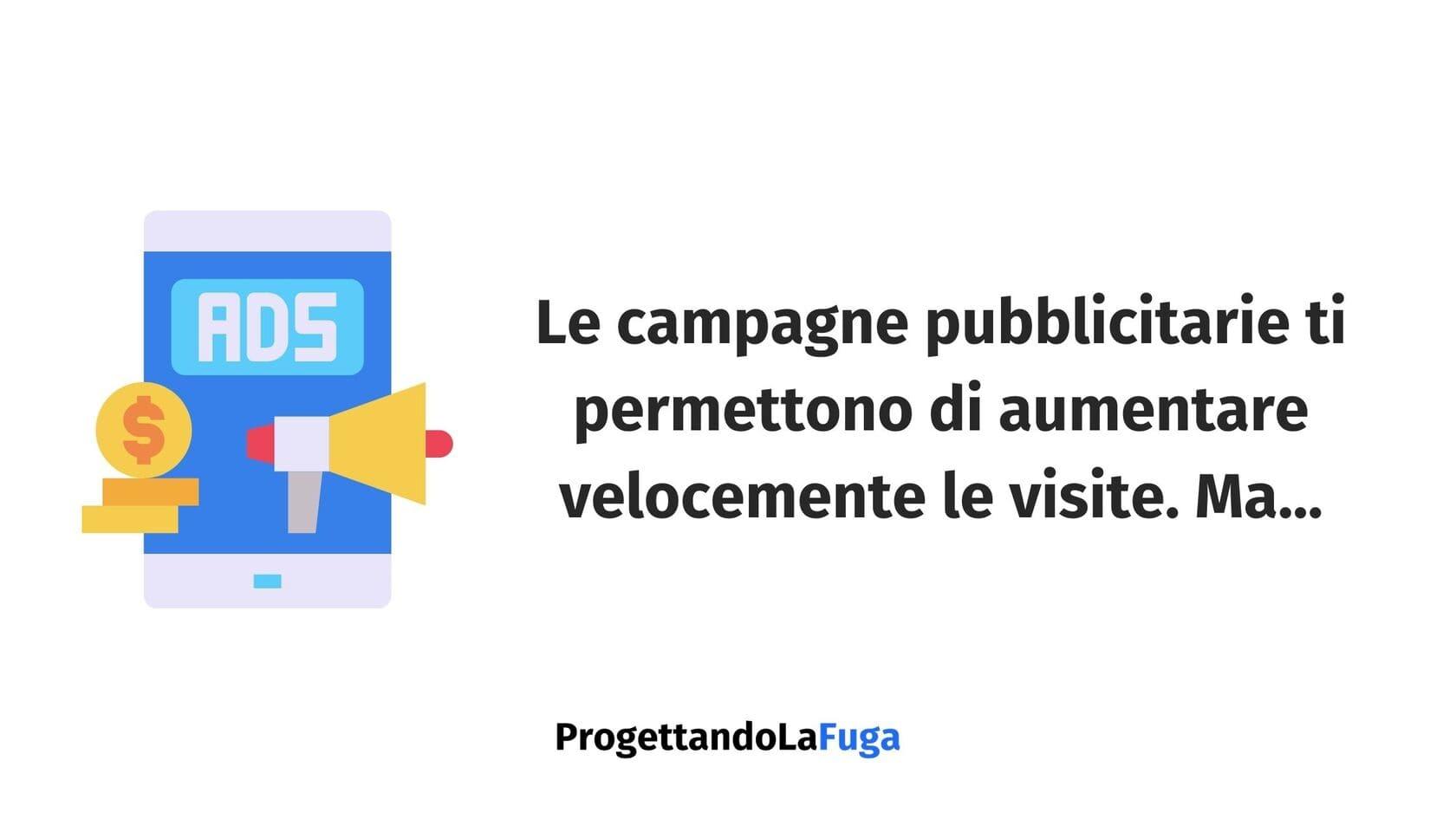 aumentare le visite con le campagne pubblicitarie