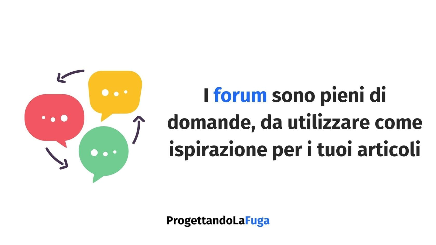 forum e gli articoli per blog