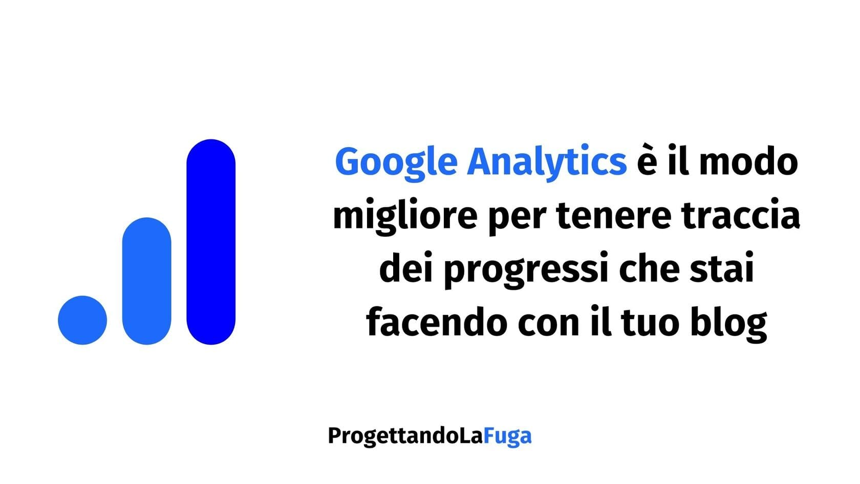 installa Google Analytics prima di promuovere un blog