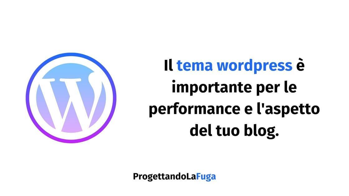 il tema wordpress del tuo blog