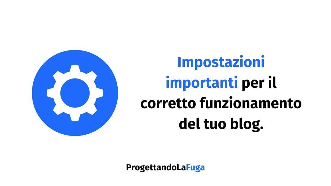 impostazioni del blog