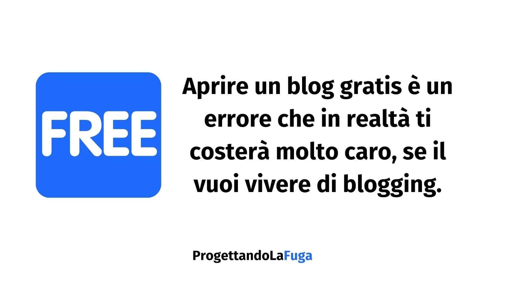 si può diventare blogger con un blog gratis