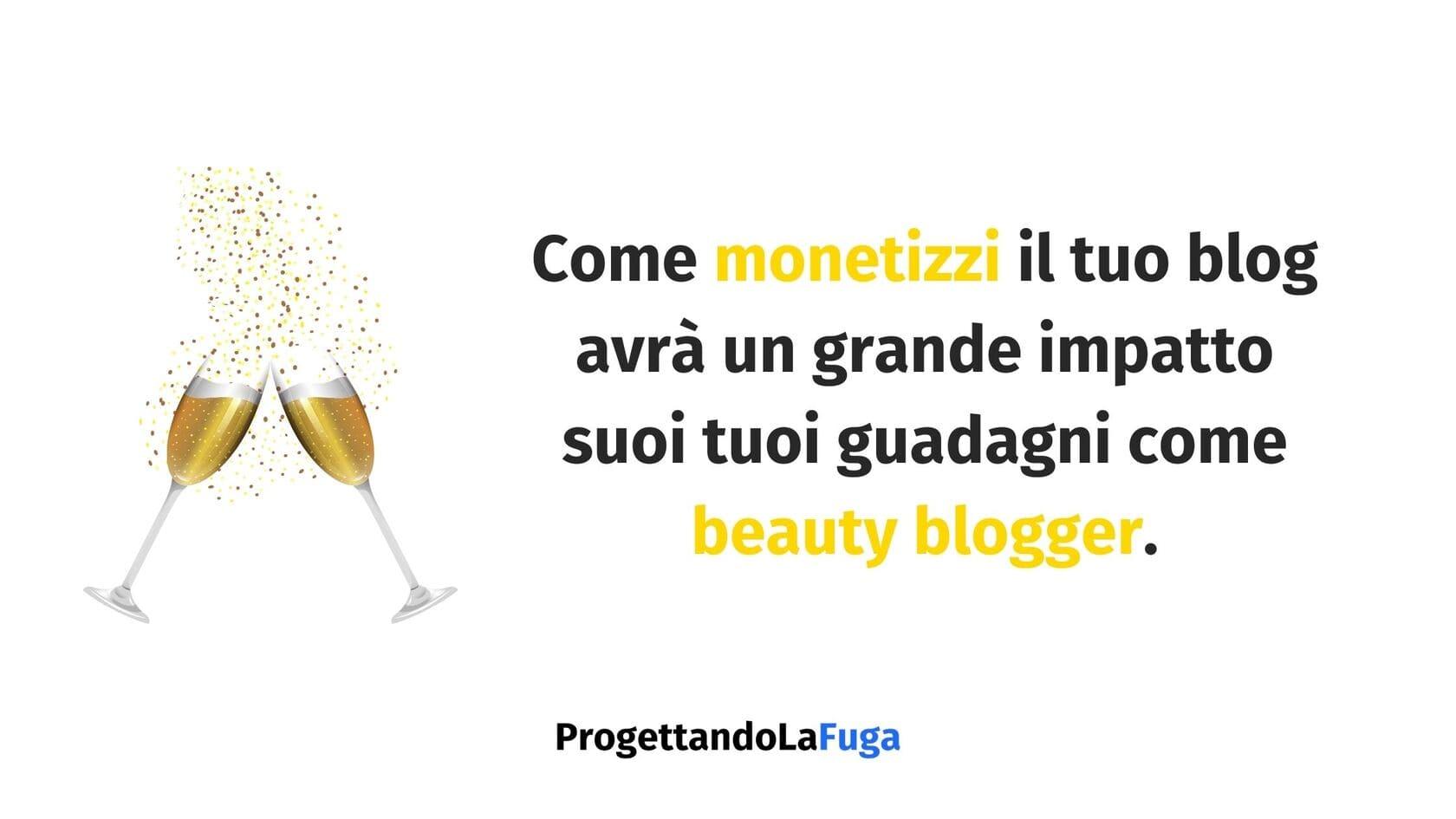 monetizzazione di un beauty blog